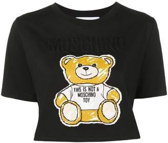 Moschino teddy bear cropped T-shirt