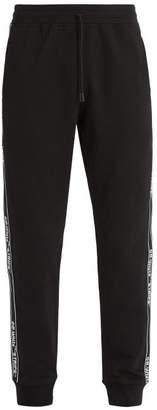 Off-White Stripe Cotton Jersey Track Pants - Mens - Black