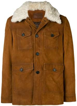 Prada shearling collar jacket
