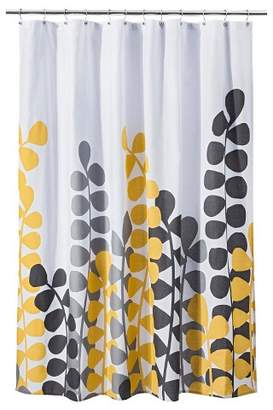Room Essentials Vine Shower Curtain - Yellow/Gray