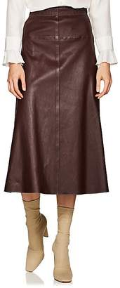 Boon The Shop Women's Leather A-Line Midi-Skirt