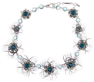 Jenny Packham Crystal Flower Collar Necklace