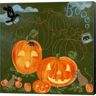 Braun Halloween Jackolante By Lisa Powell Canvas Art