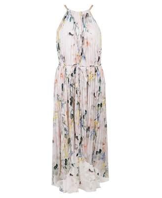 b30f600b0 Ted Baker Elegance Print Dip Hem Maxi Dress Colour  NUDE