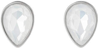 clear Glow Shiny Silver & Crystal Studs