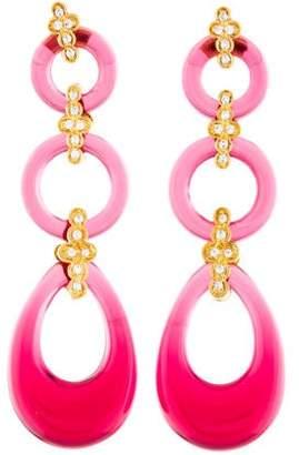 Angélique de Paris Gelato Crystal & Resin Drop Earrings
