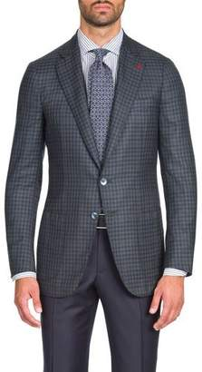 Isaia Men's Two-Tone Check Two-Button Blazer Jacket