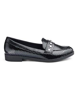 Octavia Simply Be Jewel Detail Loafers Wide Fit