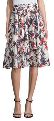 Jason Wu Printed Cascade A-Line Skirt