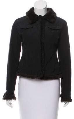 Andrew Marc Faux Fur-Trimmed Collared Jacket