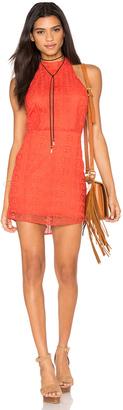 Line & Dot Promenade Halter Dress $127 thestylecure.com