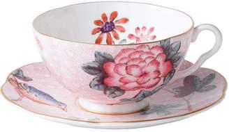 Wedgwood Pink Cuckoo Teacup and Saucer