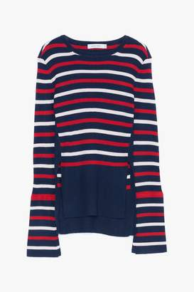Genuine People Striped Bell Sleeved Sweater
