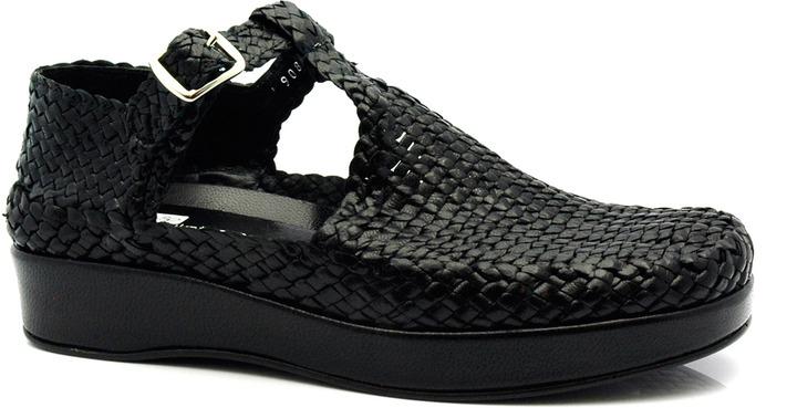 """Pons Quintana 8234"""" Black Woven Sandals"""