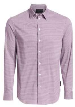 Emporio Armani Geometric Pattern Button-Down Shirt