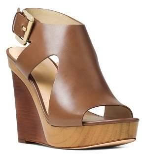 MICHAEL Michael Kors Women's Josephine Leather Platform Wedge Sandals