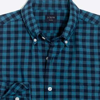 J.Crew Factory Slim-fit flex heather washed shirt in gingham
