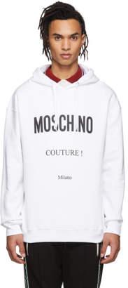 Moschino White Couture Hoodie