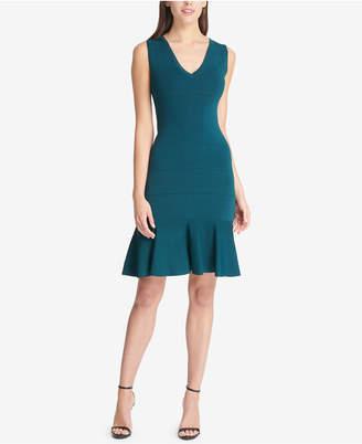 Vince Camuto V-Neck Flounce Dress