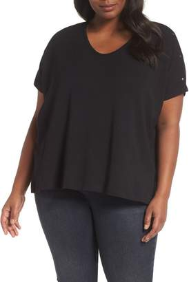 Sejour Snap Sleeve Tee (Plus Size)