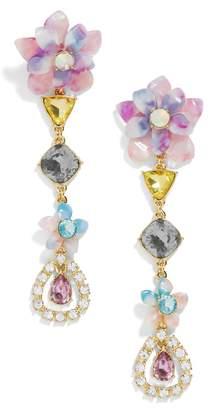 BaubleBar Flower Top Crystal Drop Earrings