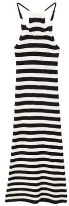MANGO Striped cotton dress
