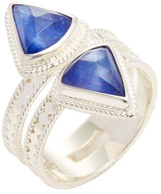 Anna Beck Jewelry Women's Double Triangle Band Lapis Triplet Trend Ring