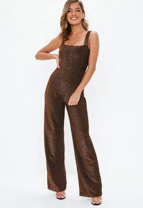 Missguided Bronze Shimmer Romper
