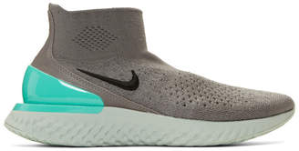 Nike Grey Flyknit Rise React Sneakers