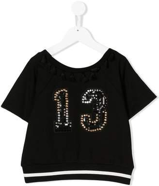 MonnaLisa sequin embellished T-shirt
