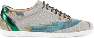 Sparkling fabric low-top sneaker $650 thestylecure.com