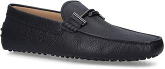 J.P Tods Leather T-Bar Driving Shoes