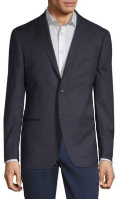 John Varvatos Textured Wool Blazer