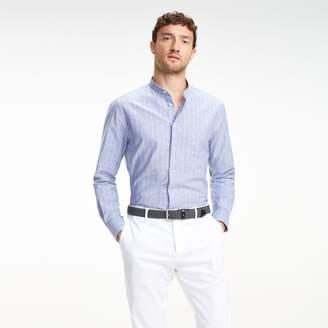Tommy Hilfiger Airy Cotton Mandarin Collar Dress Shirt