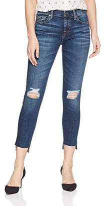 7 For All Mankind Women's The Ankle Skinny Jean with Destroy & Step Hem