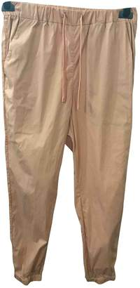 Cos Orange Cotton Trousers for Women