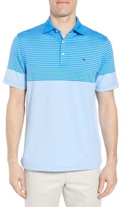 Vineyard Vines Regular Fit Engineer Stripe Sankaty Performance Polo