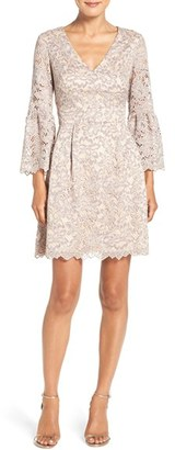 Women's Eliza J Lace Fit & Flare Dress $158 thestylecure.com