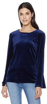 Suite Alice Bell Sleeve Round Neck Velvet Blouse