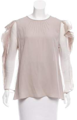 Andrew Gn Silk Ruffled Top