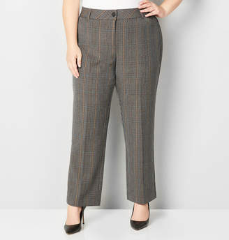 Avenue Plaid Slimming Trouser Pant with Tummy Control