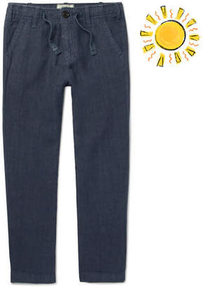 Hartford Boys Ages 2 - 12 Linen-Chambray Drawstring Trousers - Navy