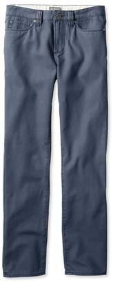 L.L. Bean L.L.Bean Signature Canvas Five-Pocket Pants, Slim Straight