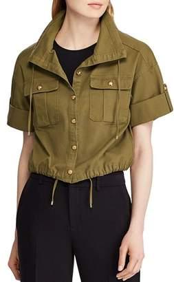 Ralph Lauren Short-Sleeve Cropped Jacket