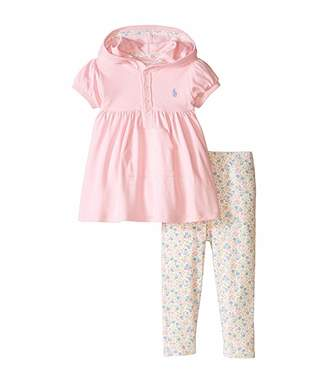 Ralph Lauren Baby Interlock Hoodie Legging Pants Set (Infant)