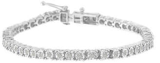 FINE JEWELRY 1 CT. T.W. Genuine White Diamond Sterling Silver 8 Inch Tennis Bracelet
