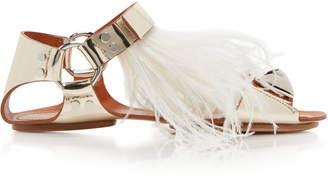 Giambattista Valli Feathered Flat Sandals