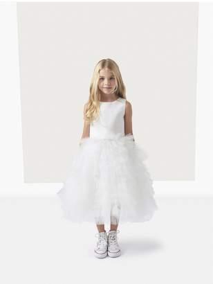Oscar de la Renta Kids Silk Faille Tutu Flower Girl Dress