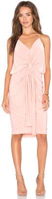 MISA Los Angeles Domino Tie Front Midi Dress