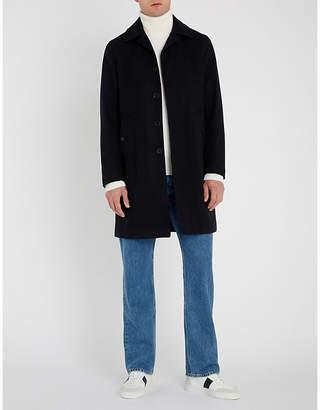 Sandro Single-breasted wool-blend coat